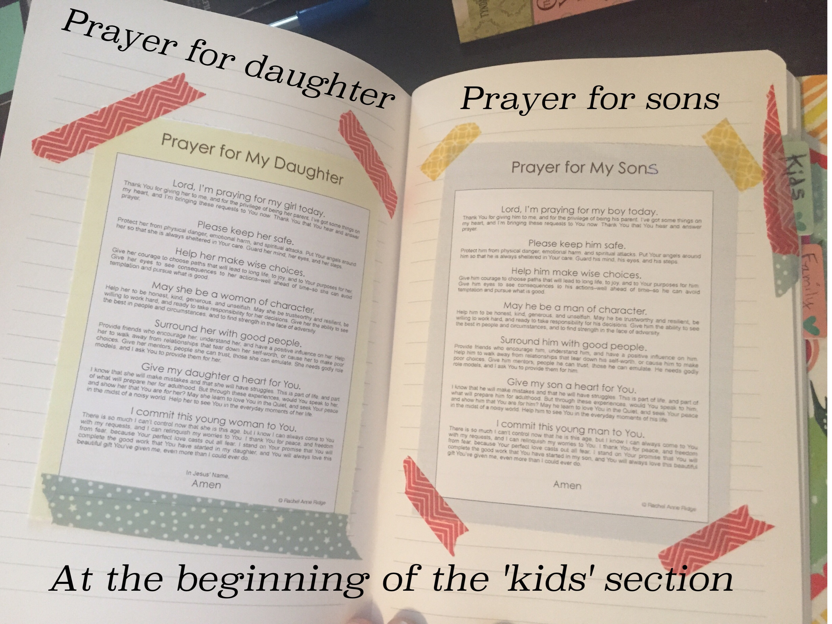 prayer for sons and daughters
